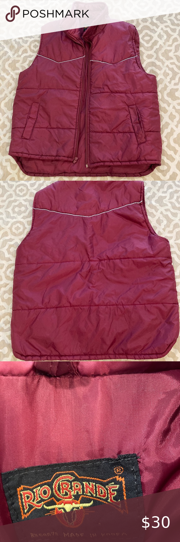 Rio Grande Puffy Vest M Great Winter Vest by Rio Grande M no stains, pulls or other defects. RioGrande Jackets & Coats Vests