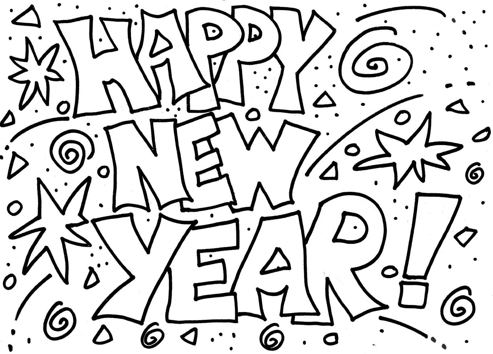 Happy New Year Coloring Pages For Kids Newyear
