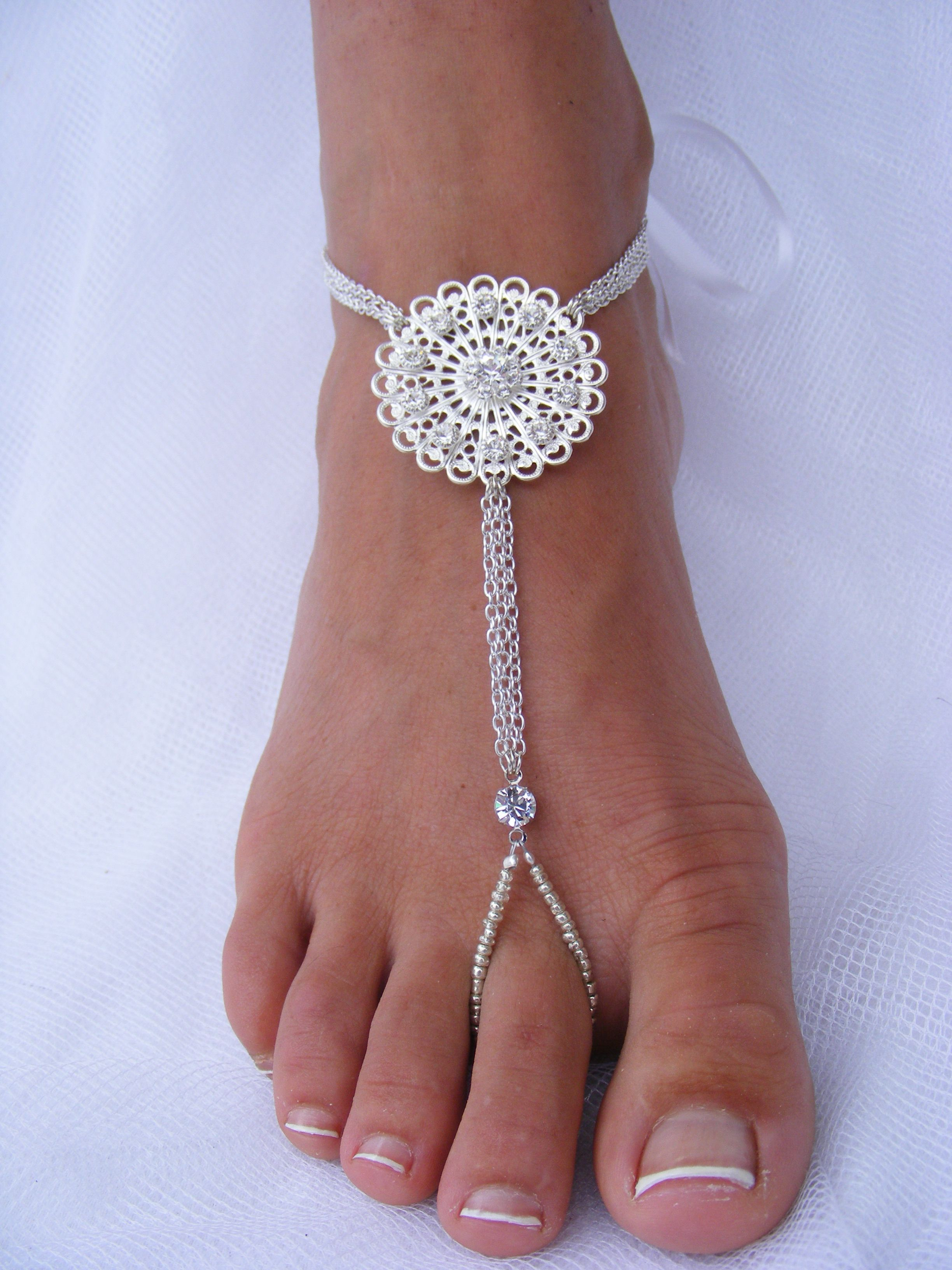 Wedding foot jewelry barefoot sandal barefoot beach wedding