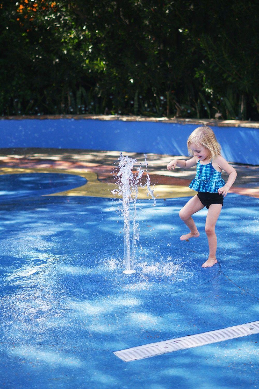 The splash pad at busch gardens travel blogger gardens trips and kid