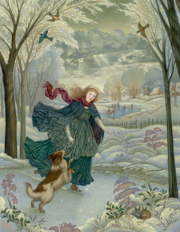 "Laurel Long. Illustration from ""Hans Brinker"" (retold by Bruce Colville).      http://laurellong.com/Home.html"