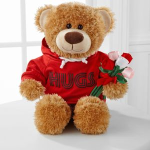 The Hugs Fur You Bear sends a message of love stuffed with hugs and good wishes by the highly popular Build-A-Bear Workshop®