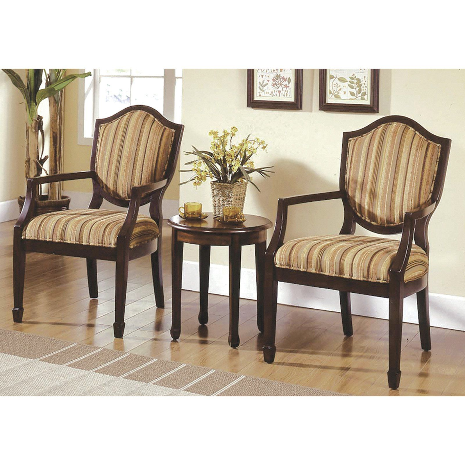 Best Master Furniture Brandee 3 Piece Traditional Living Room