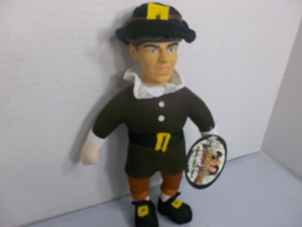 """THE THREE STOOGES 10"""" MO THANKSGIVING PILGRIM PLUSH CHARACTER! WITH ALL TAGS! #GLOBALICONS"""