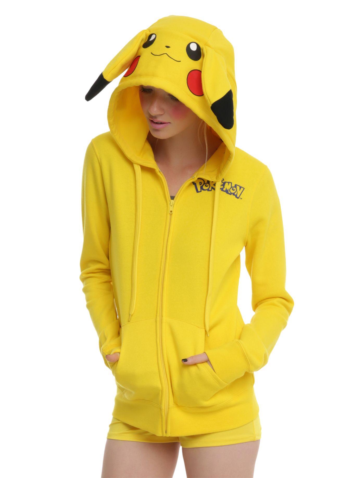 Check this outpokemon pikachu costume girls hoodie