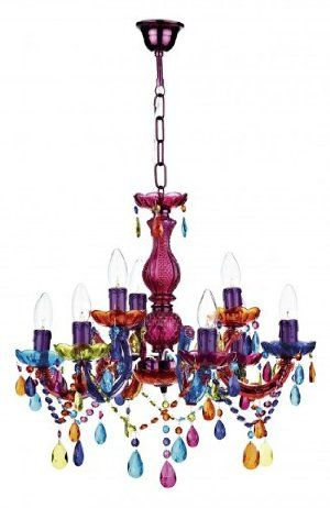 newest collection f2fa1 8c4ef Large Multi Coloured Glass Chandelier Light Fitting ...