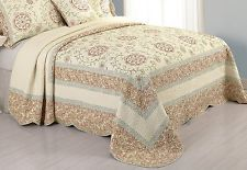 Modern Heirloom Collection Rosaleen Cotton Quilted Bedspread Full 96 X110 In Bed Spreads Quilted Bedspreads Queen Size Comforter Sets