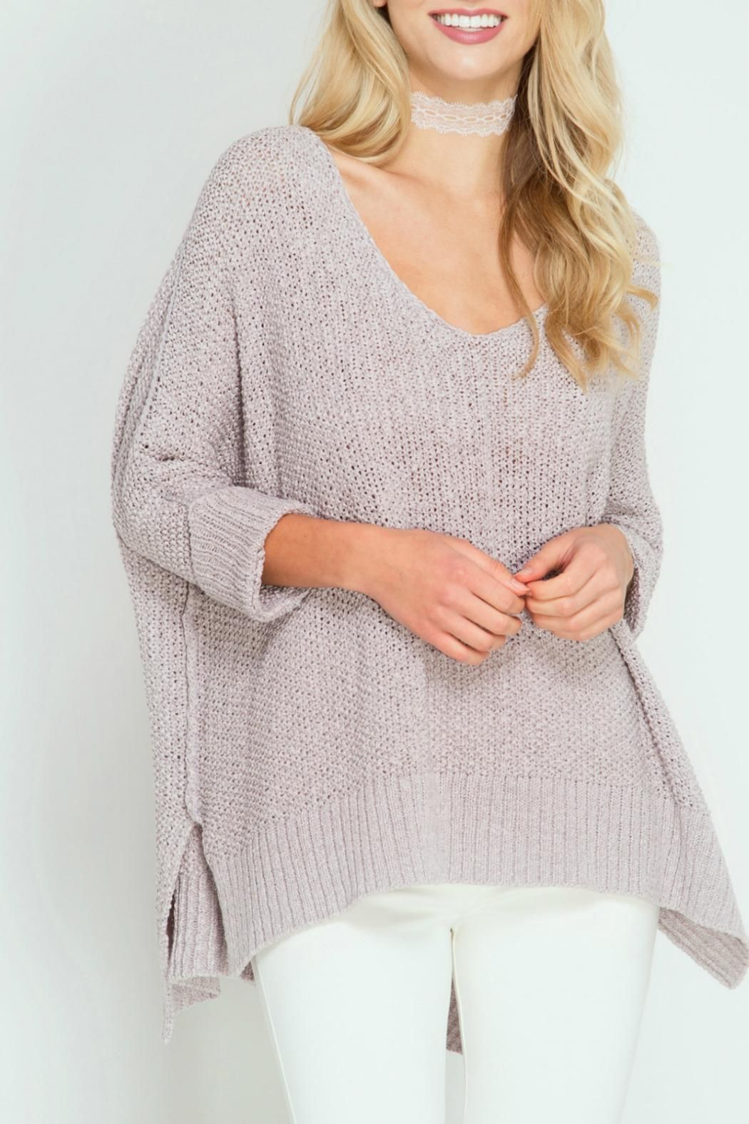 She Sky High Low Sweater Boutique Highlights Sweaters Sleeves