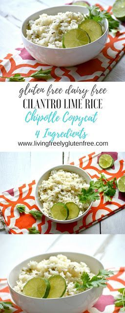 Naturally gluten free and dairy free this simple Cilantro Lime Rice tastes just …