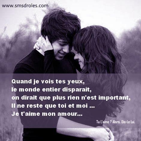 Sms Damour Et Messages Drôles Message Amour Sms Amour Et