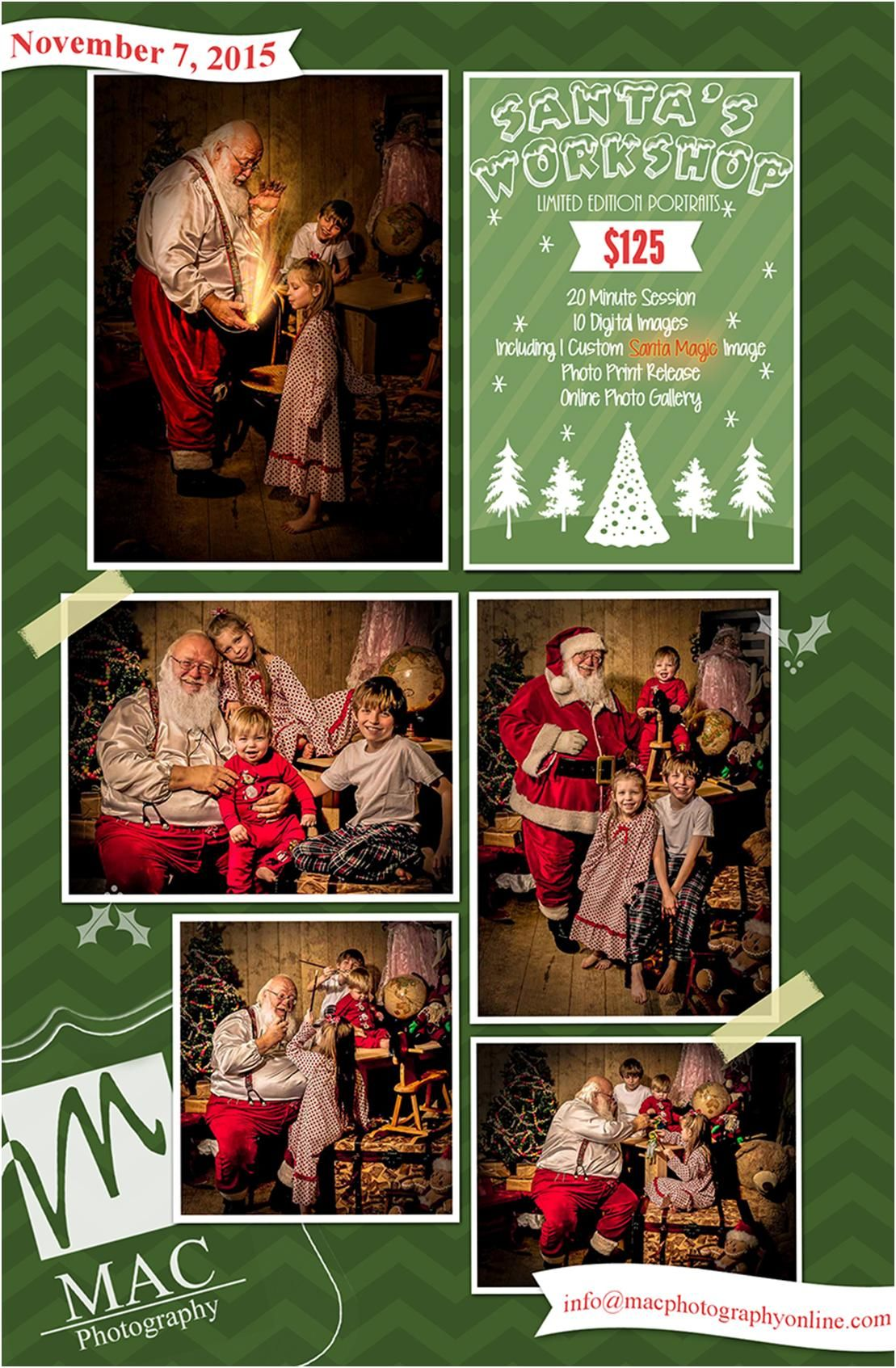 Come Visit Santa in his Workshop! One Day Only 11/7/2015 « MAC Photography