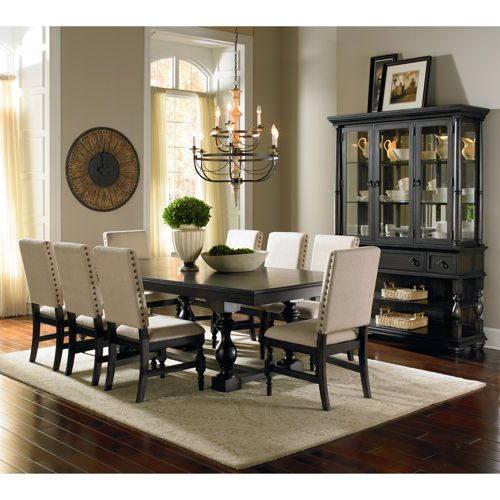 Carmel 10Piece Dining Set With Buffethutch  New House Brilliant Dining Room Buffet Hutch Decorating Design