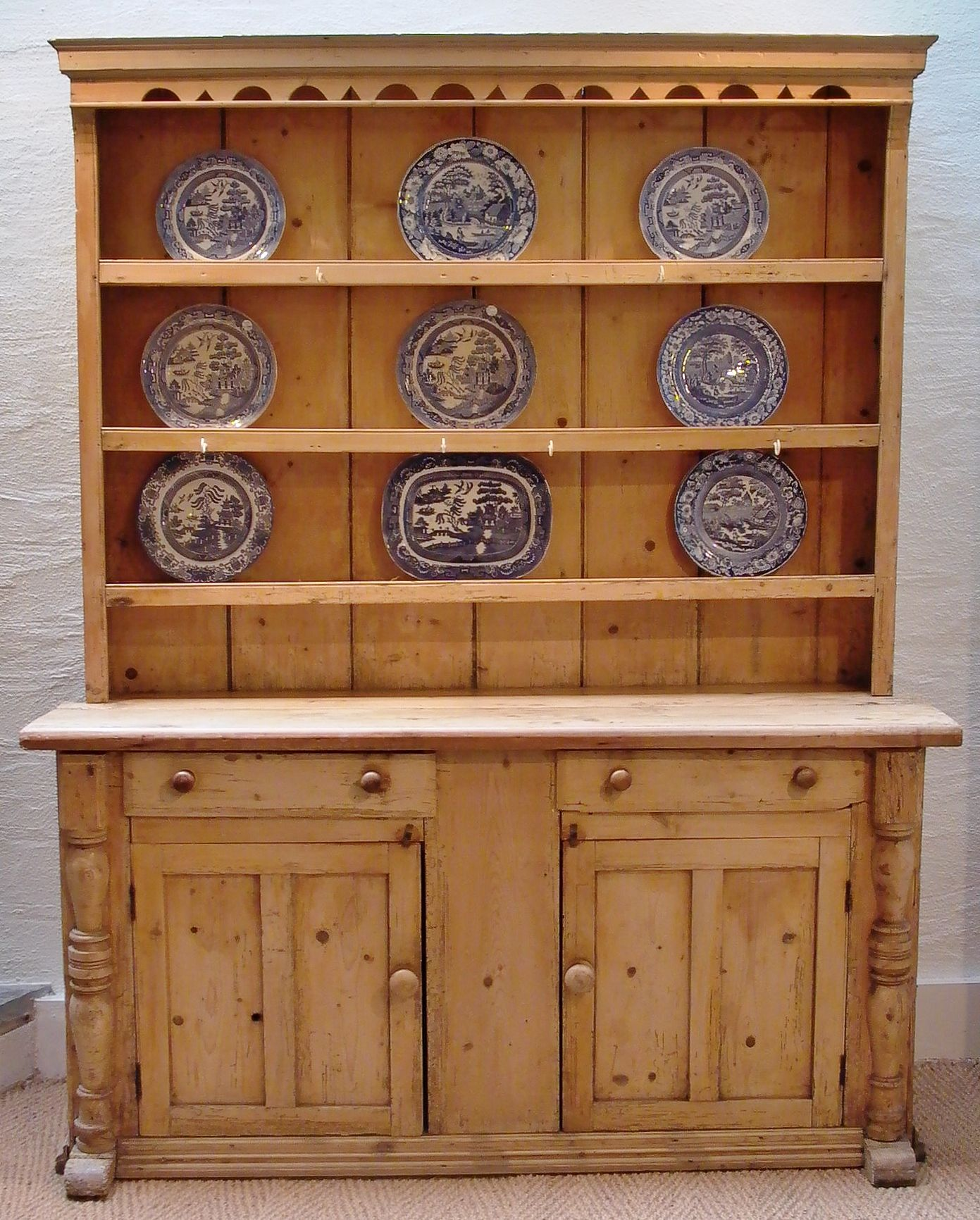 Irish Pine Dresser Circa 1850 Like Mine In The Kitchen Antique