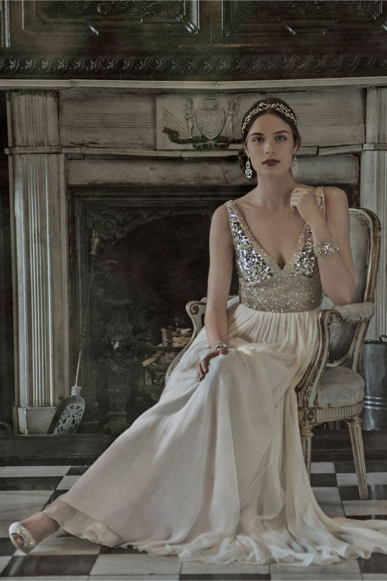 Leona Gown from BHLDN | Embellished Wedding Dresses & Ideas ...