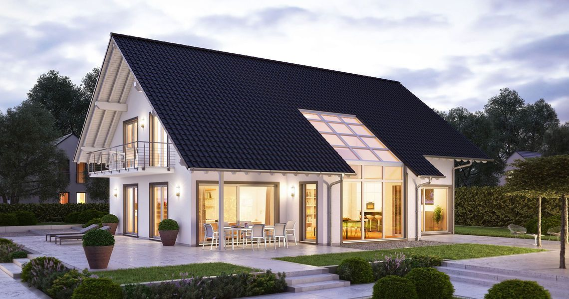 Modernes Ideen Rund Ums Haus Pinterest Satteldach Huschen Und Architektur.