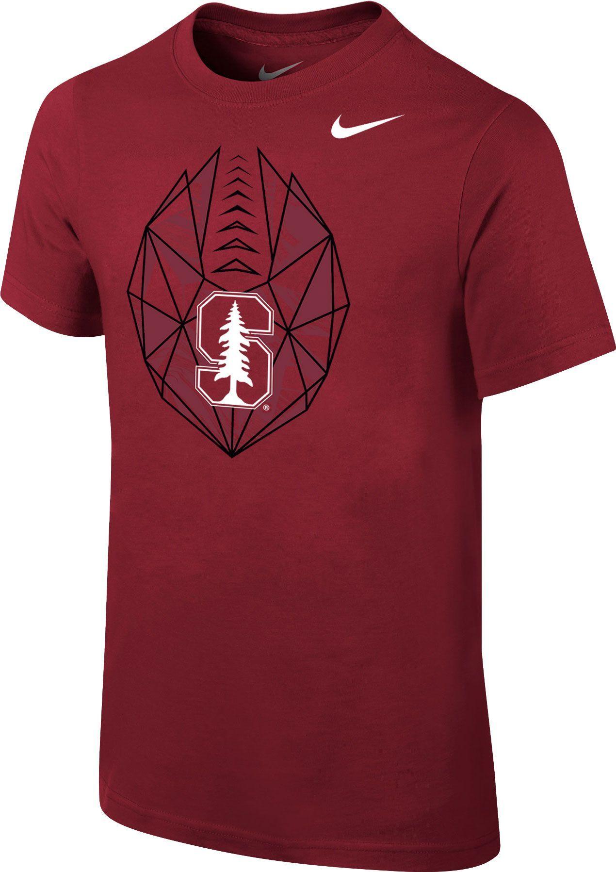 aa4859b587 Nike Youth Stanford Cardinal Cardinal Football Icon T-Shirt, Red ...