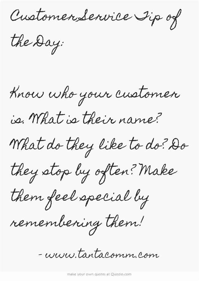 Customer Service Tip of the Day: Know who your customer is