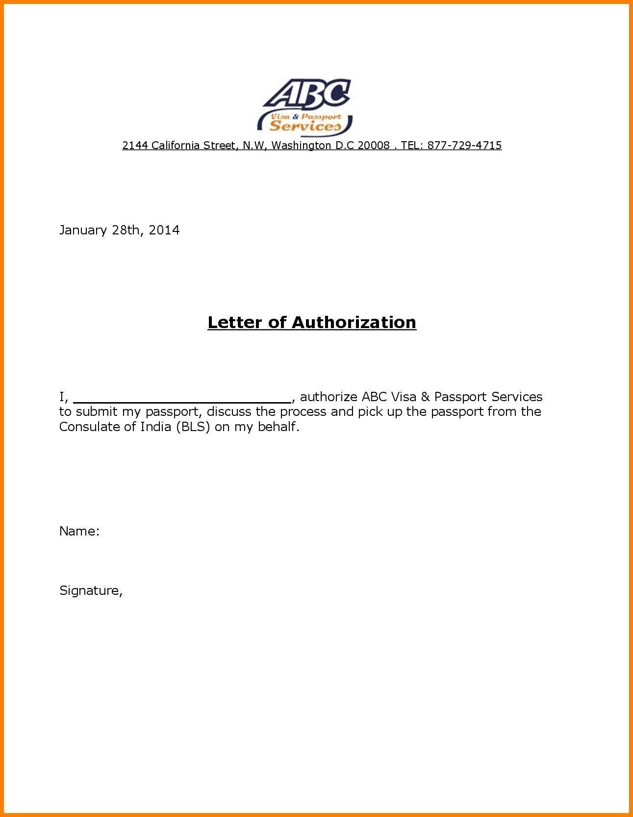 Authorization Letters Templates Lettering Letter Templates Words
