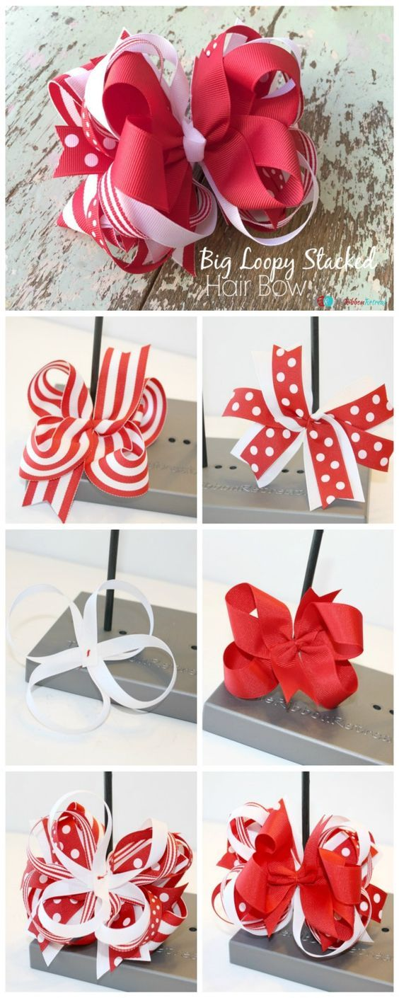 How To Make A Big Loopy Stacked Hair Bow  The Ribbon Retreat Blog