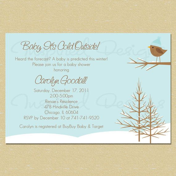 baby it's cold outside snow baby shower invite – unitedarmy, Baby shower invitations