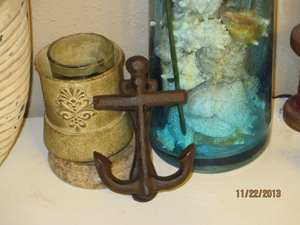 Cast Iron Ship Anchor Door Knocker , Rustic knocker, Nautical Door Knocker