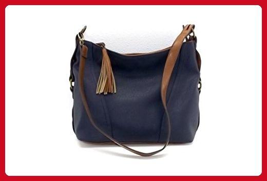 Slouchy Bucket Hobo Bag Navy Blue Bags