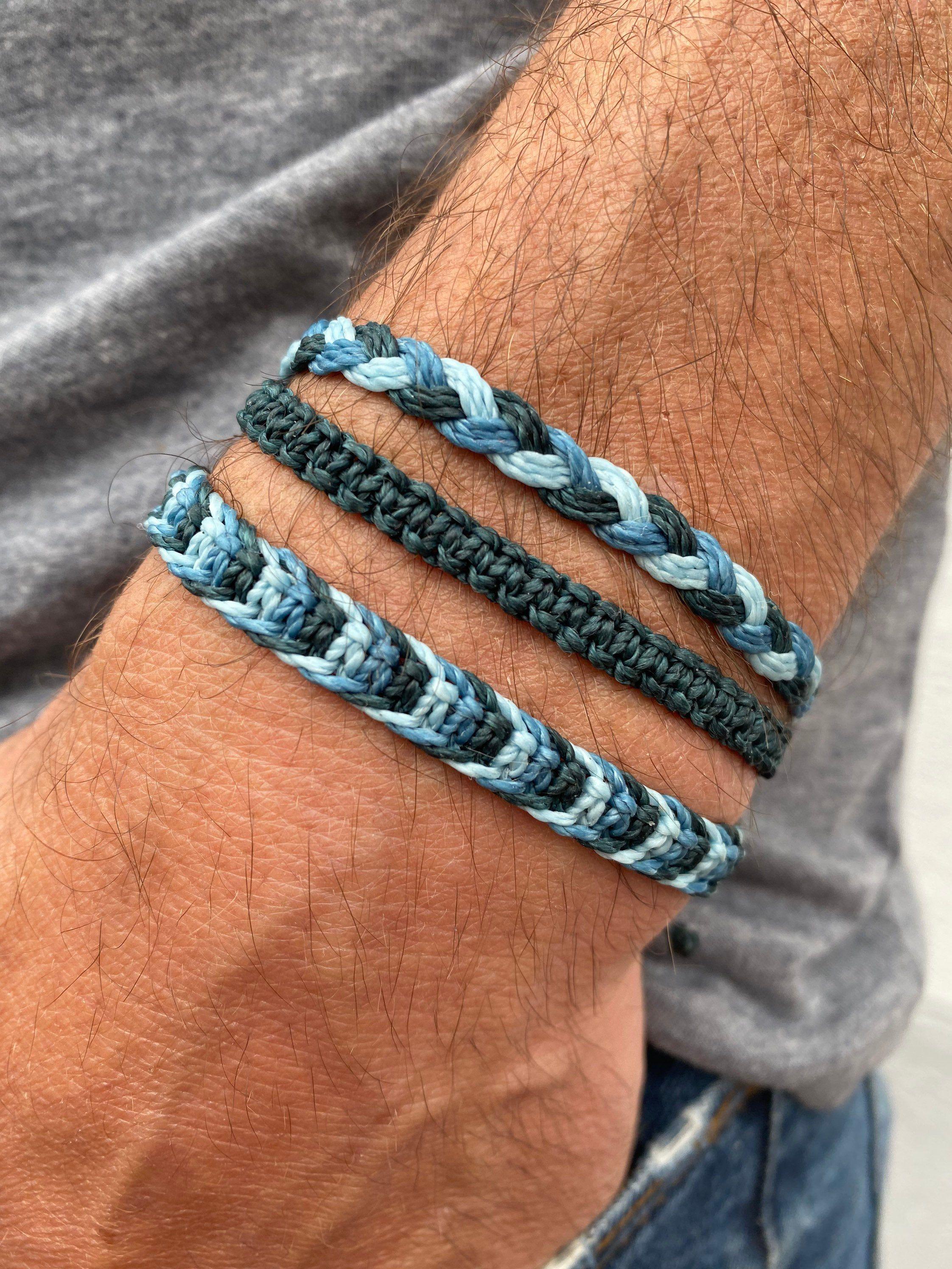 Gift idea bracelet made of wax Set earrings