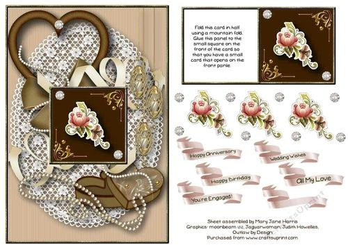 Floral Card-On-A-Card Card Topper 2 | Craftsuprint