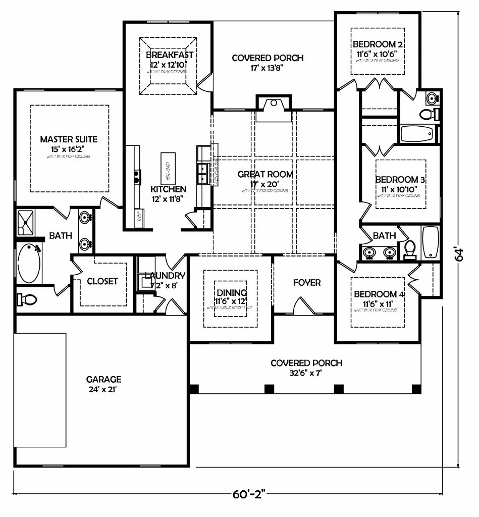 craftsman ranch house floor plan 120i 2 313 square foot