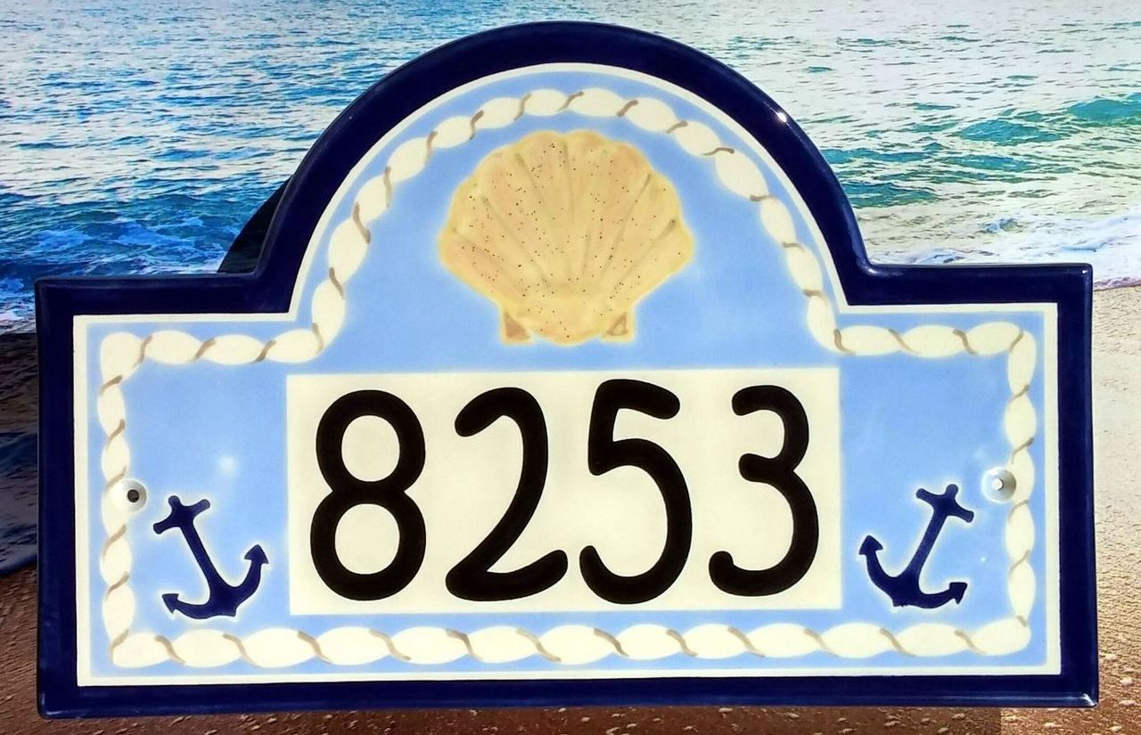 Seashells ceramic house number plaque number entrance design and classy plaques store seashells ceramic house number plaque 20900 dailygadgetfo Gallery