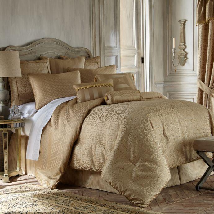 Dillards Furniture Austin: Waterford Linens Anya Reversible Queen Comforter Set Gold