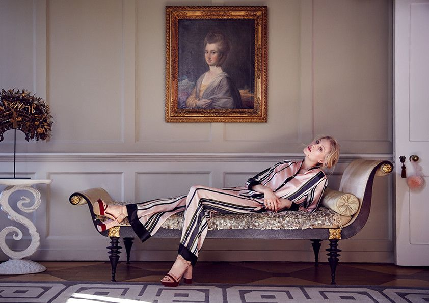 Luxury sleep and nightwear inspired by the colours and textures of Charleston, the country house frequented by the Bloomsbury Set.