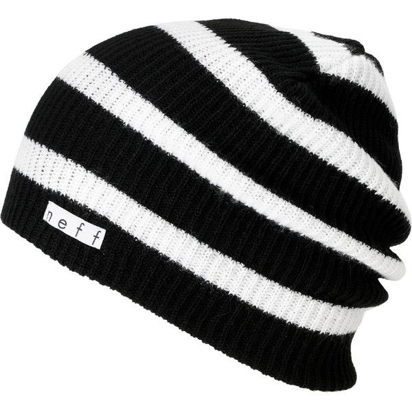 Neff Daily Black   White Stripe Beanie at Zumiez   PDP ( 18) ❤ liked on  Polyvore featuring accessories 6db0077f523