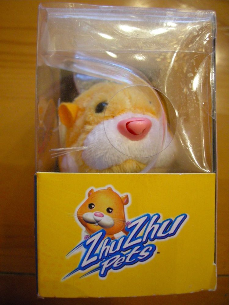 Hamster Zhu Zhu Pets Nugget Tan White Talking New in Box