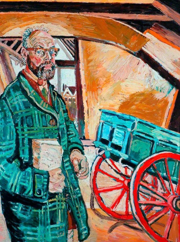 John Bratby, Self-Portrait with Cart   self portraits   Pinterest ...