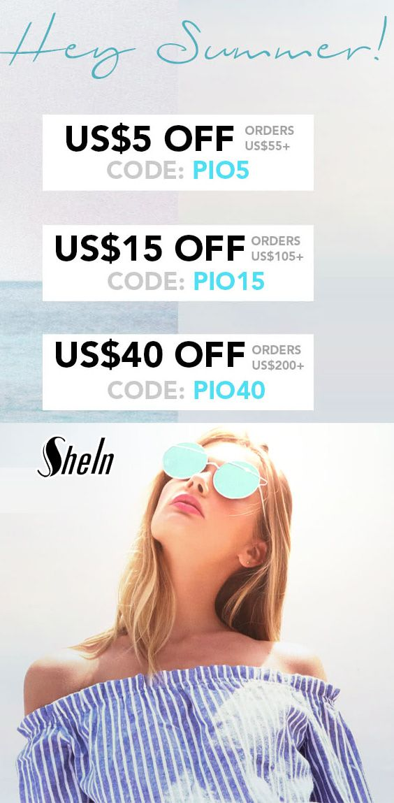 5ff5981ff6 Coupon · SHEIN Store Offers Hey Summer Sale: $40 Off on $200+, $15 Off on