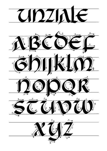 """Uncial - with strokes included. [""""…the emergence in the early Middle ..."""