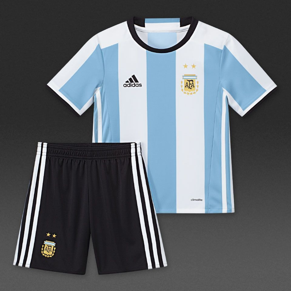38a8368b456 Argentina 2016/17 Home (Youth Kids Infant Baby ) Kit Personalized Name and  Number