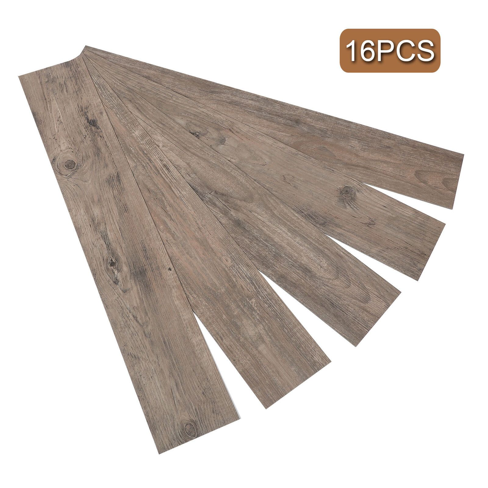 16 Pcs Adhesive Floor Tiles Vinyl Floor Planks 2 0mm Thick 24 Square Feet Vinyl Flooring Ideas Of Vinyl Flooring Vinylflooring With Images Adhesive Floor Tiles