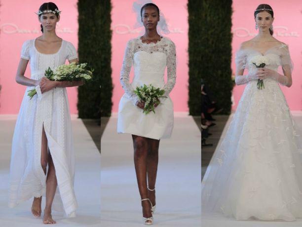 Abiti da sposa Oscar De La Renta collezione primavera estate 2015