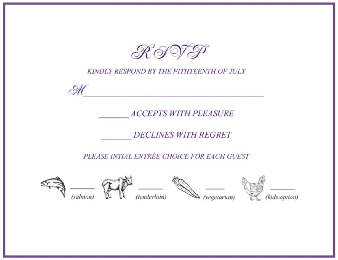 Rsvp 101 How To Rsvp To A Wedding Or Event Rsvpify Choice Template Rsvp Wedding Cards Wedding Rsvp