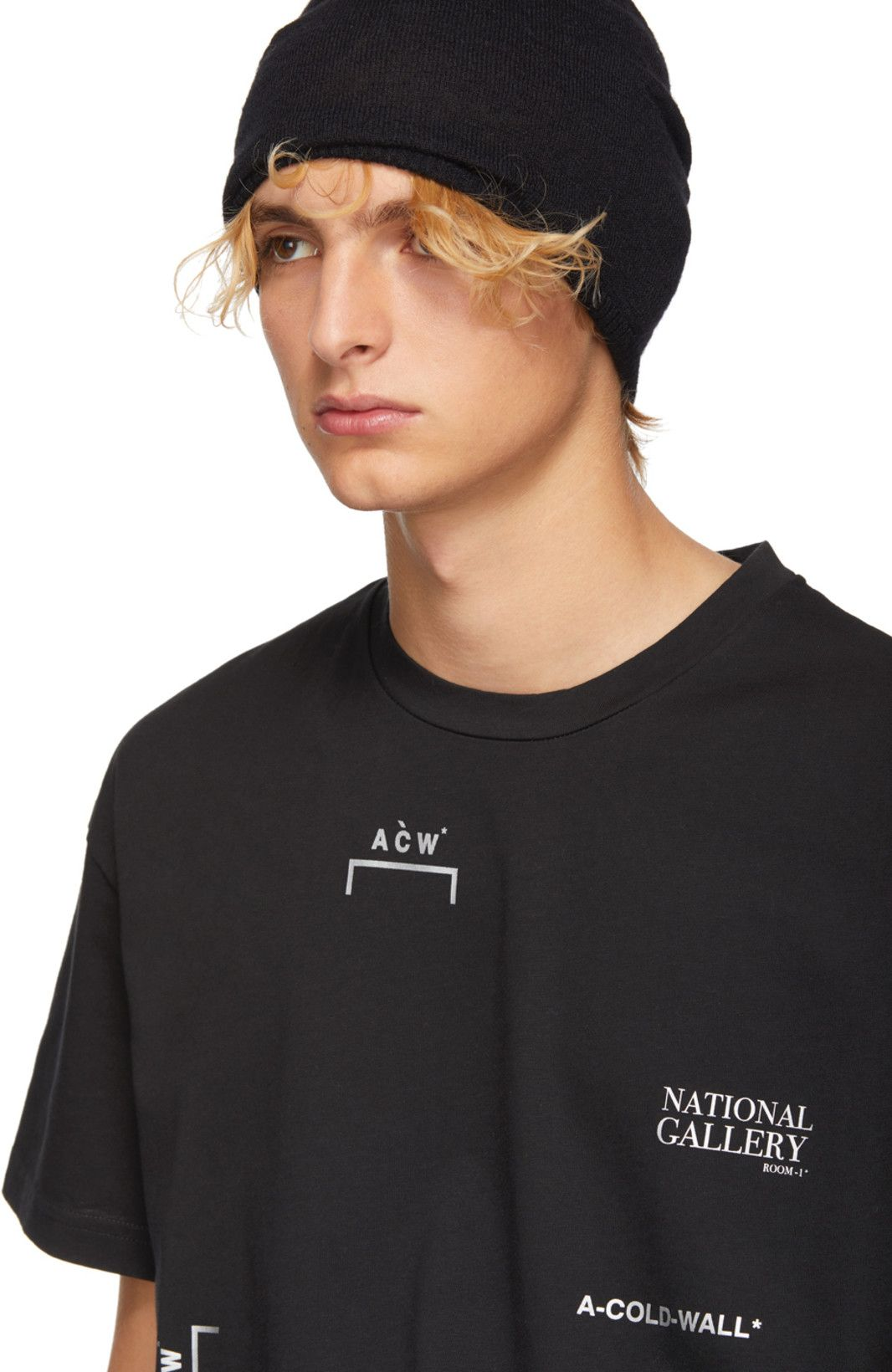 f197d92a3f49 A-Cold-Wall* - Black 'National Gallery' Multi Logo T-Shirt | URBAN ...