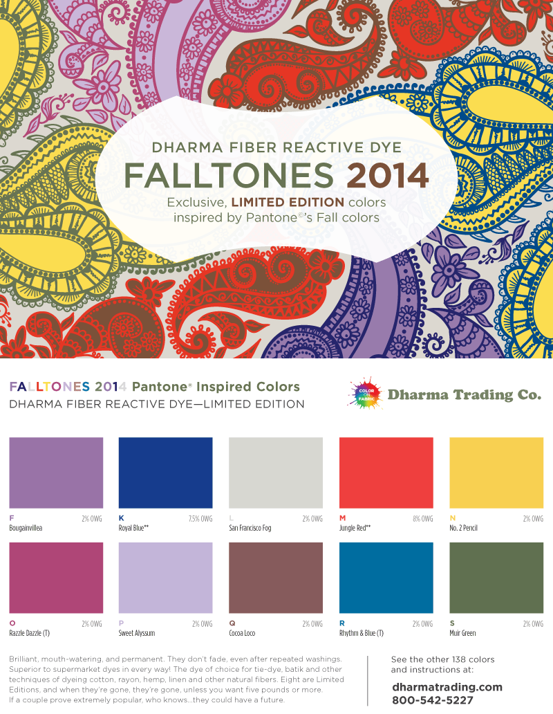 New Fiber Reactive Dye Falltone colors for 2014- inspired by the ...