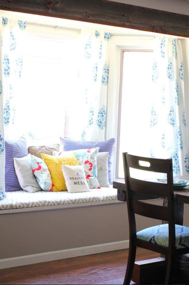 Barnwood Beautiful | Diy bay window curtains, Bay window ...