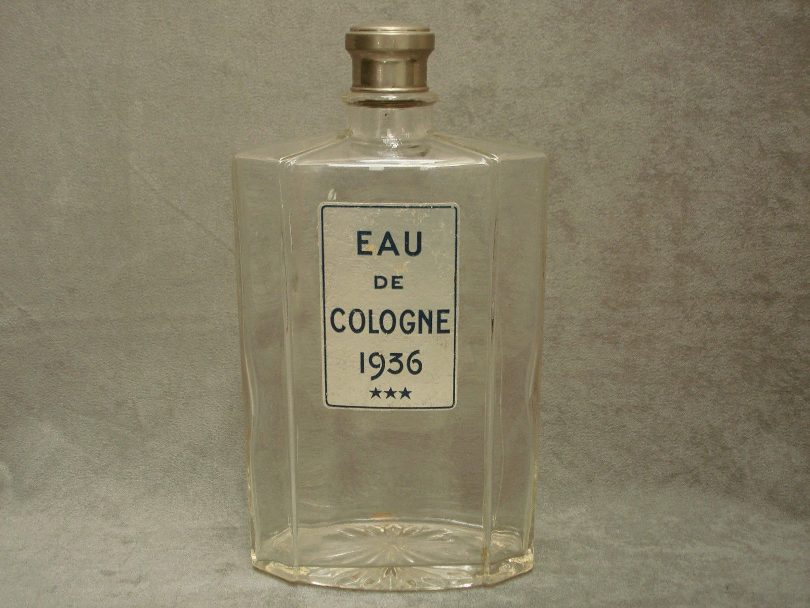 grand flacon ancien 23 5 cm 1936 eau de cologne parfum vintage ebay objets vendus. Black Bedroom Furniture Sets. Home Design Ideas