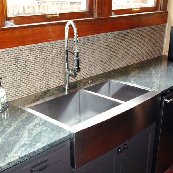 Flush Mount Apron Front Sink Stainless Steel Farmhouse Sink
