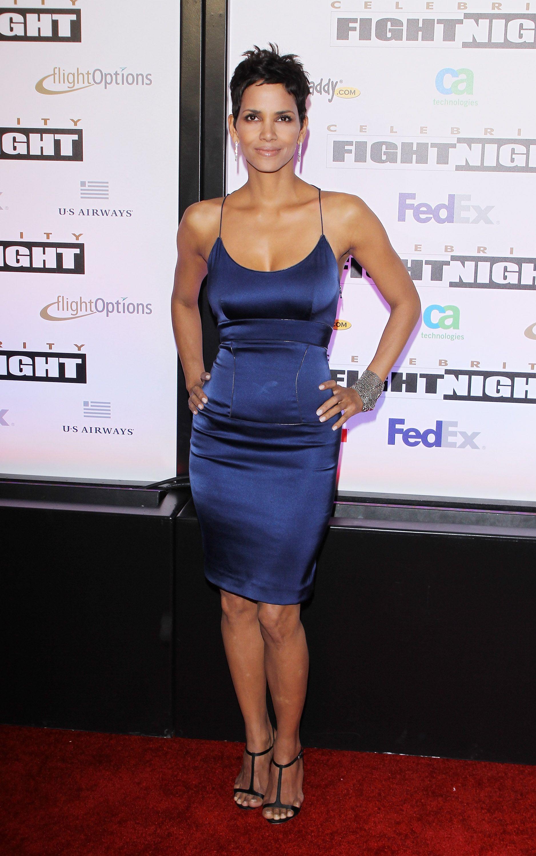 Blue Dress Halle Berry Looks Dresses Evening Short