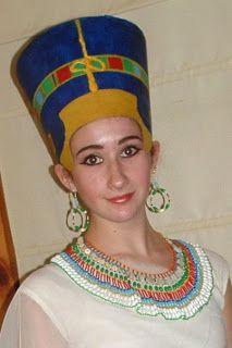 Diy Tutorial For Nefertiti Headdress And Necklace Nefertiti Costume Head Dress Diy Nefertiti