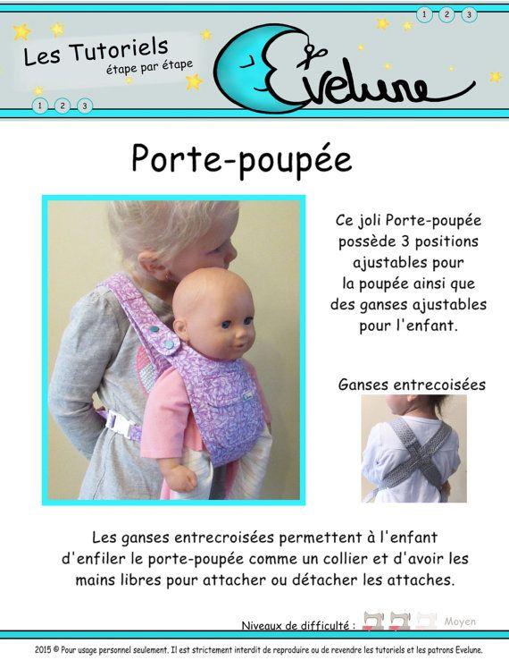 9478ea8a1ca Porte-poupée pour enfant PDF   Patron Français   Porte poupée   porte-bébé  pour enfants   accessoire de poupée   Evelune