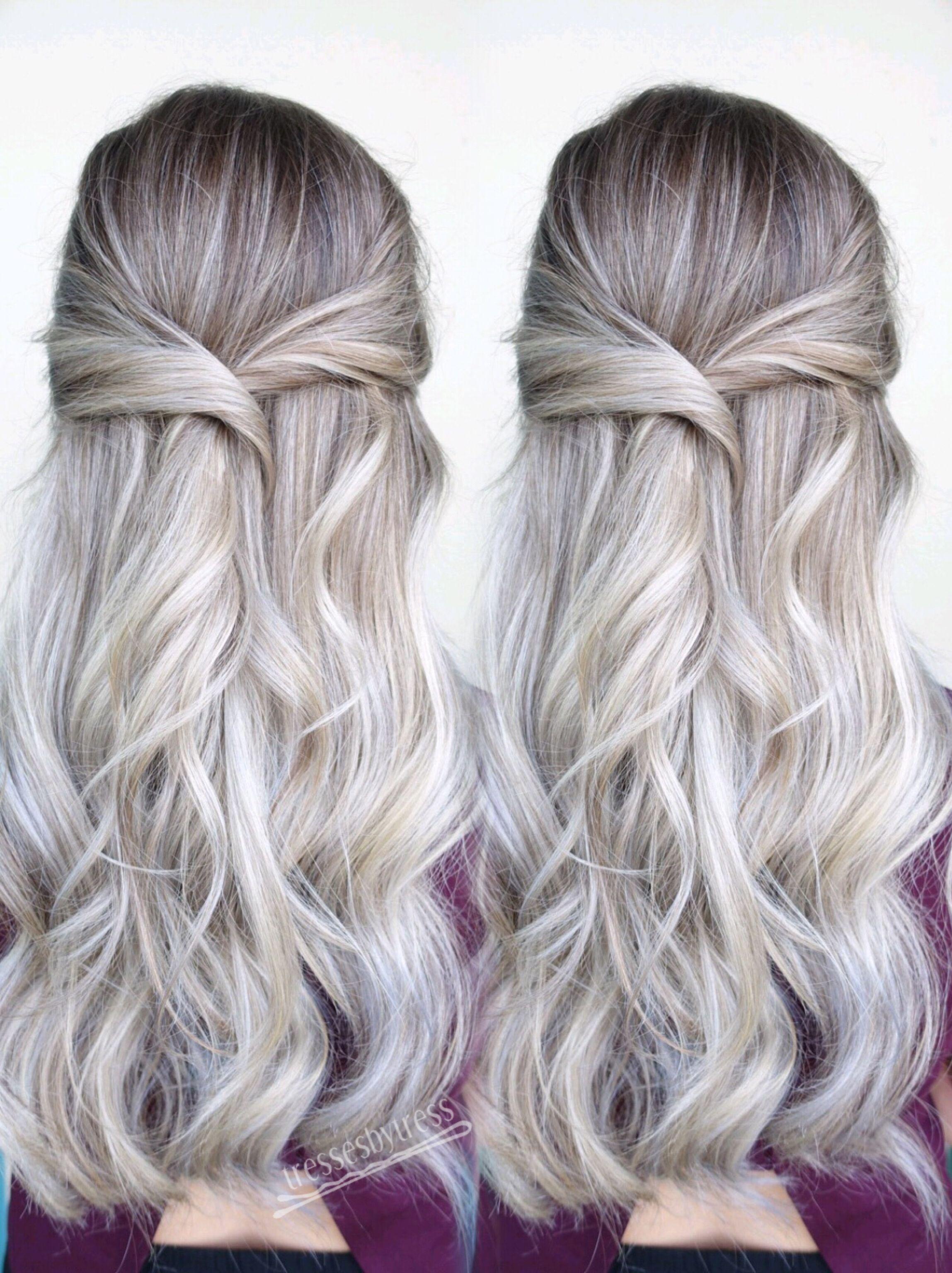 Platinum blonde balayage | Hair and beauty | Pinterest | Blonde ...